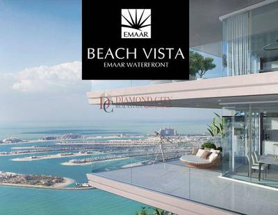 1 Bedroom Apartment for Sale in Dubai Waterfront, Dubai - Emaar Beach Front living| Palm View Sea View | Dubai Harbour