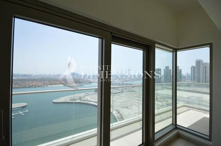 3 Bedroom Apartment for Rent in Al Reem Island, Abu Dhabi - Upcoming Corner 3BR with Sea view in Wave Tower for rent!