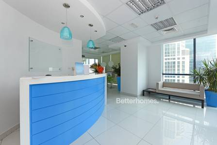 Office for Rent in Jumeirah Lake Towers (JLT), Dubai - Fitted partitioned & furnished office