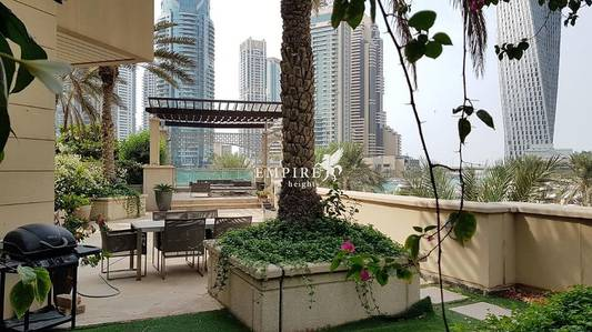 3 Bedroom Villa for Rent in Dubai Marina, Dubai - One of A Kind Marina View Garden Terrace