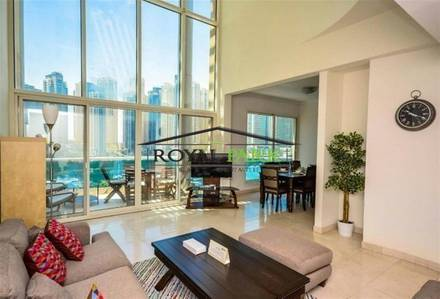 3 Bedroom Apartment for Rent in Dubai Marina, Dubai - With beautiful full views onto the Dozens of luxury yachts on the main marina for the yachts