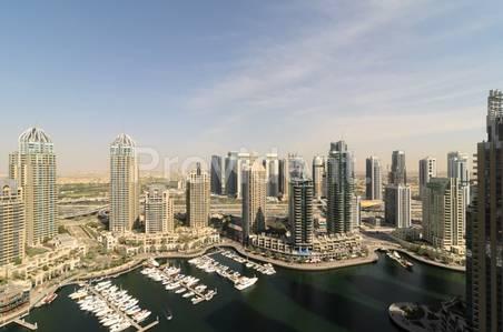 3 Bedroom Apartment for Rent in Dubai Marina, Dubai - Unobstructed Full Marina View Apartment.