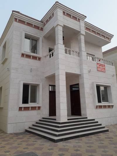 """5 Bedroom Villa for Sale in Al Mowaihat, Ajman - """"Villa for sale new face area stone building with a large lounge with air conditioners"""