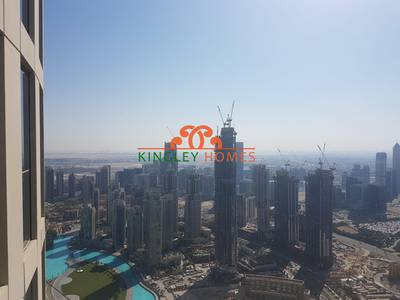2 Bedroom Apartment for Rent in Downtown Dubai, Dubai - 3.5% Comm. Only|Very High Floor|Sea View