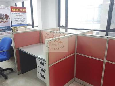 Office for Sale in Jumeirah Village Circle (JVC), Dubai - Large fully fitted furnished office for sale in JVC only 550psf.