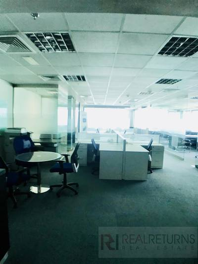 Office for Rent in Jumeirah Lake Towers (JLT), Dubai - Large office with partitions high floor