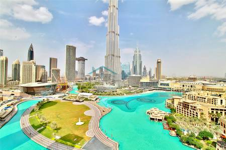 Residences | Full Fountain + Khalifa View