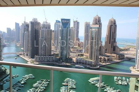3 Bedroom Apartment for Sale in Dubai Marina, Dubai - Full Marina View High Floor 3BR Al Murjan