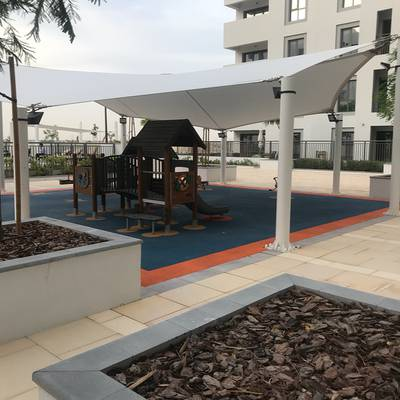 2 Bedroom Apartment for Rent in Town Square, Dubai - 65K in 3 cheqs Pool and Park View 2 Br Apt in Zahra, Nshama Townsquare for Rent