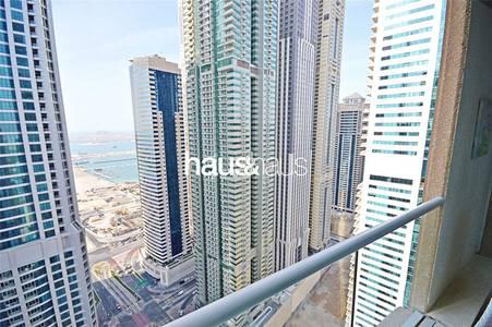 3 Bedroom Apartment for Rent in Dubai Marina, Dubai - Marina Heights || Unfurnished || Balcony