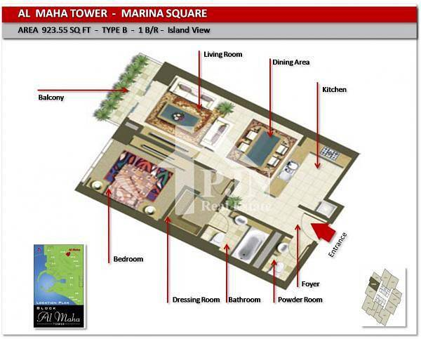 2 Different Nice 1 Bedroom For Rent In Maha Tower....