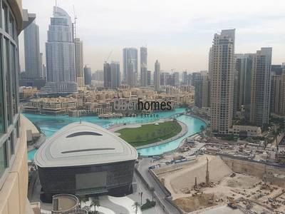 1 Bedroom Apartment for Rent in Downtown Dubai, Dubai - Good layout 1 bed apartment w/ lake view