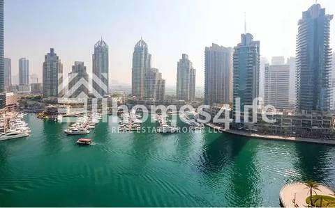 1 Bedroom Apartment for Rent in Dubai Marina, Dubai - Furnished Marina terrace full marina view