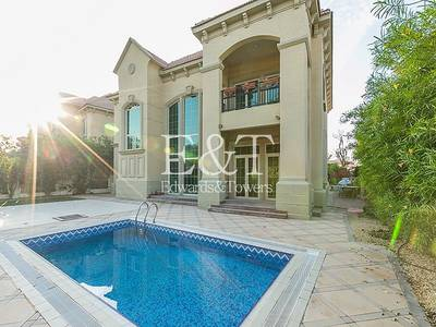 4 Bedroom Villa for Rent in Jumeirah Islands, Dubai - OUTSTANDING|Furnished 4BR Garden Hall