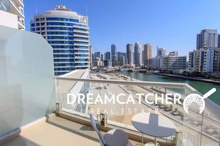 1 Bedroom Apartment for Rent in Dubai Marina, Dubai - Full marina view