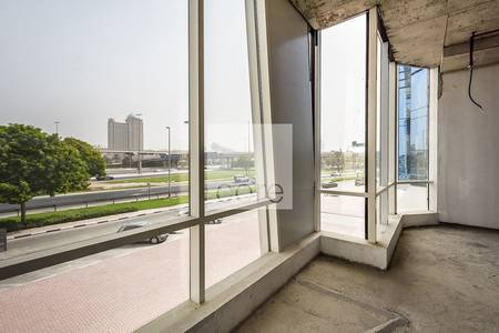 Floor for Rent in Sheikh Zayed Road, Dubai - Half Floor | Shell and Core Office | DED