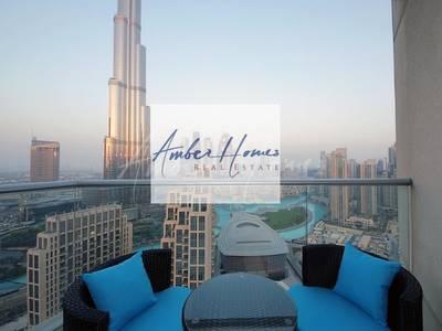 2 Bedroom Flat for Rent in Downtown Dubai, Dubai - Full Burj Khalifa & Fountain View | 2BR+Maids  @ 120k