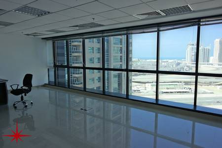 Office for Sale in Jumeirah Lake Towers (JLT), Dubai - Fully Fitted Office with SZR view