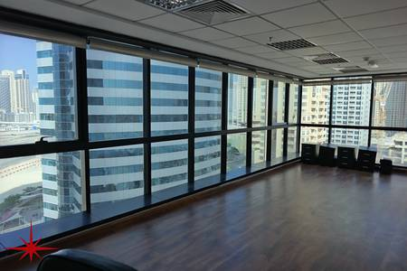 Office for Rent in Jumeirah Lake Towers (JLT), Dubai - Fully Fitted Office with SZR view