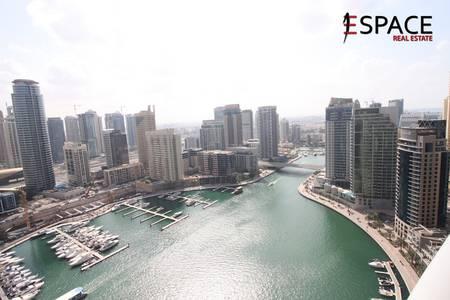 3 Bedroom Flat for Rent in Dubai Marina, Dubai - 3BR Unit on a High Floor   Marina View