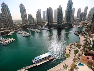 2 Bedroom Apartment for Sale in Dubai Marina, Dubai - Stunningly Unobstructed Full Marina View