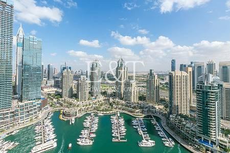 2 Bedroom Flat for Rent in Dubai Marina, Dubai - Full Marina view / Vacant  / Unfurnished / Maid room