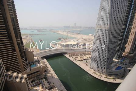 3 Bedroom Flat for Rent in Dubai Marina, Dubai - 3BR | Upgraded | Built in Bar | Sea View