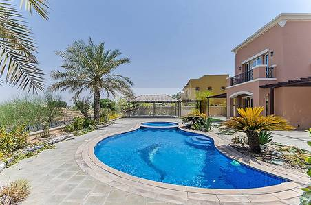 5 Bedroom Villa for Sale in Arabian Ranches, Dubai - Full Golf Course View Vacant on Transfer