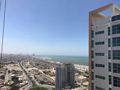 2 Bedroom Apartment for Rent in Al Sawan, Ajman - SEA VIEW:- Luxurious 2 Bed Hall with Parking in Ajman One Tower