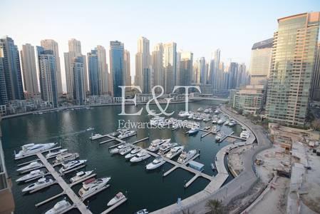 2 Bedroom Flat for Rent in Dubai Marina, Dubai - Fantastic marina view| Study| Chiller Free