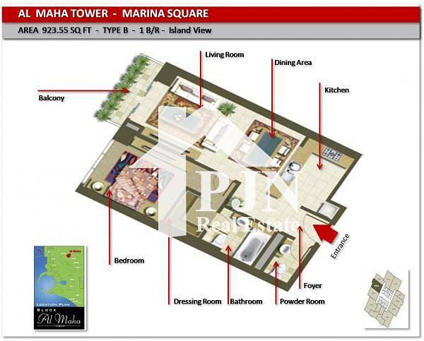 2 Hot Deal: Elegant Vacant 1 Bedroom For Sale In Maha Tower