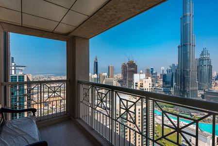 2 Bedroom Apartment for Rent in Downtown Dubai, Dubai - Stunning View of Burj Khalifa and Fountain View on a 2BR Unit | 29BLVD