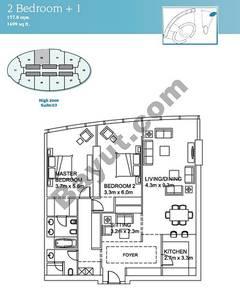 2 Bedroom Suite 3