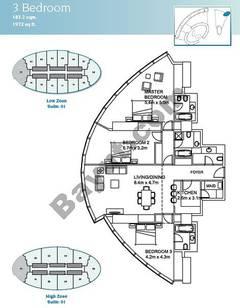 3 Bedroom Suite 1 Low Zone