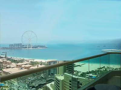 1 Bedroom Flat for Rent in Dubai Marina, Dubai - Fully Furnished 1 BR w/ Partial Sea View