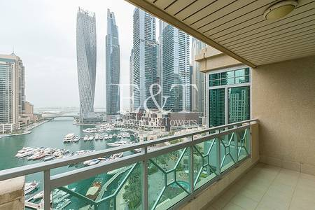3 Bedroom Flat for Rent in Dubai Marina, Dubai - High floor and upgraded full Marina view