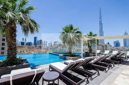 2 Bedroom Flat for Rent in Downtown Dubai, Dubai - Luxury Serviced | 2 BR Suite in Downtown
