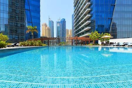 2 Bedroom Apartment for Rent in Dubai Marina, Dubai - Silverene Towers | 2BR | Partial Marina View