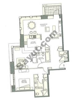 Level 6to24 - 2 Bedrooms (Type 1)