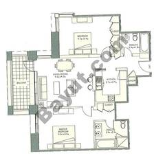 Level 6to28 - 2 Bedrooms (Type 1)