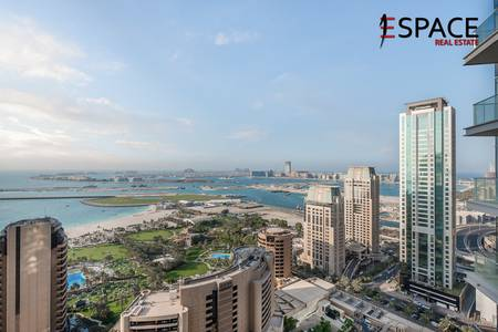 3 Bedroom Flat for Rent in Dubai Marina, Dubai - Vacant | Unfurnished 3BR | Full Sea View