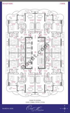 Odd Floor 21st, 23rd, 25th, 27th