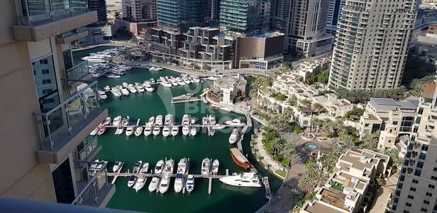 3 Bedroom Apartment for Rent in Dubai Marina, Dubai - Spectacular view of Marina Dock