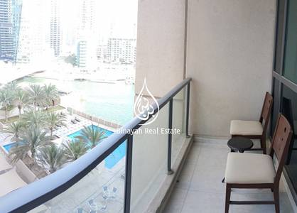 1 Bedroom Apartment for Rent in Dubai Marina, Dubai - 1BR  Furnished  Vacant  Partial sea view