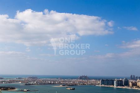 2 Bedroom Flat for Rent in Dubai Marina, Dubai - Unfurnished 2 BR wi/ Full Sea View Vacant