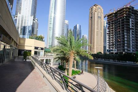 Shop for Rent in Jumeirah Lake Towers (JLT), Dubai - Fitted Shop  Full Lake View   Negotiable