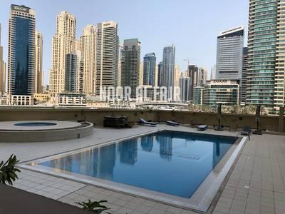 2 Bedroom Apartment for Rent in Dubai Marina, Dubai - 2BR+Maids+Balcony Pool VIEW