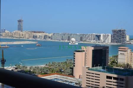 3 Bedroom Apartment for Rent in Dubai Marina, Dubai - Full Sea View 3 Bed   Maid Furnished Apartment