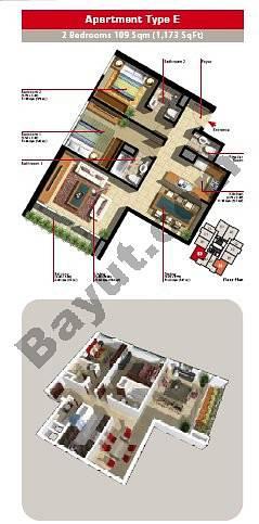 2 Bedroom Apartment Type E