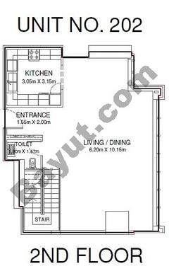 Studio - Unit 202 - 2nd Floor